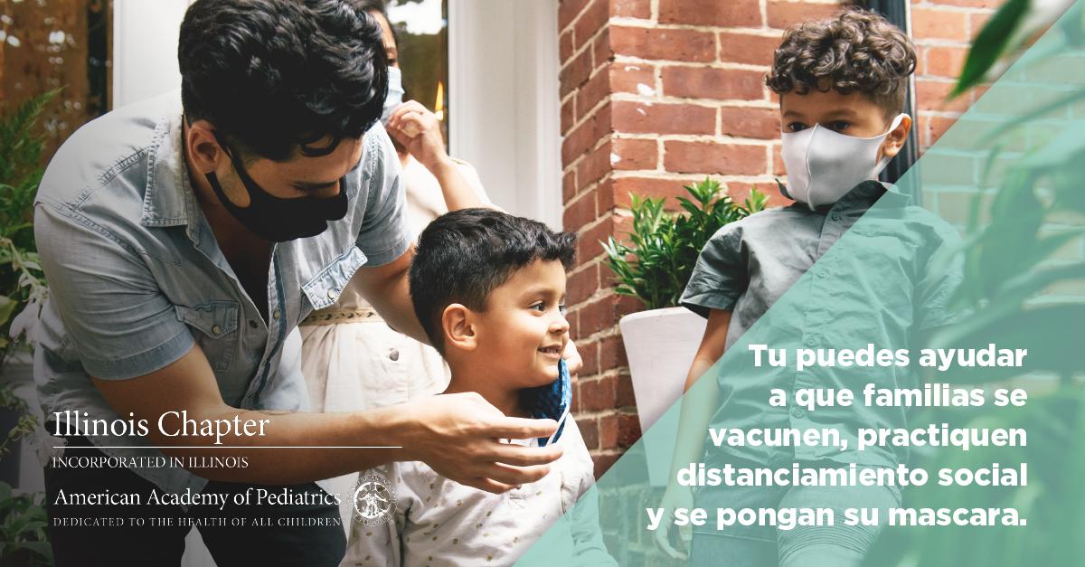 Tu puedes ayudar a que familias se vacunen, practiquen distanciamiento social y se pongan su mascara.